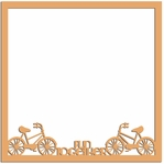 Two Wheels: Fun Together 12 x 12 Overlay Laser Die Cut
