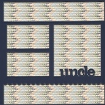 Uncle 12 x 12 Overlay Quick Page Laser Die Cut