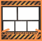 Under Construction 12 x 12 Overlay Quick Page Laser Die Cut