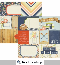 Under the Stars: 3 x 4 Journaling Cards 12 x 12 Double-Sided Cardstock