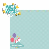 Unicorn: Make a wish 2 Piece Laser Die Cut Kit