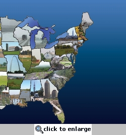 United States Map Right 12 x 12 Paper