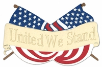 United We Stand Laser Die Cut