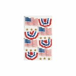 USA Flags Medium Stickers