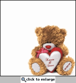 Valentine's Day Bear Custom 12 x 12 Paper
