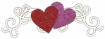 Valentine: Scroll Heart Page Corner Laser Die Cut