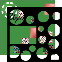 Vegas Baby: Vegas Patterned Circles 12 x 12 Overlay Quick Page Laser Die Cut
