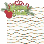 Very Merry: Christmas Parade 2 Piece Laser Die Cut Kit