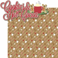 Very Merry: Cookies And Hot Cocoa 2 Piece Laser Die Cut Kit