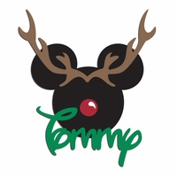 Very Merry:  Custom Reindeer Mouse Laser Die Cut