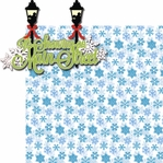 Very Merry: It's Snowing on Main Street 2 Piece Laser Die Cut Kit