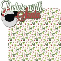 Very Merry: Pictures With Santa 2 Piece Laser Die Cut Kit