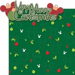 Very Merry: Verry Merry Chrisrtmas 2 Piece Laser Die Cut Kit