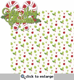 Very Merry: Verry Merry Christmas 2 Piece Laser Die Cut Kit
