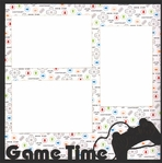Video Games: Game Time 12 x 12 Overlay Quick Page Laser Die Cut