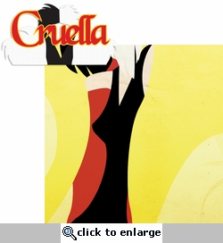 Villains: Cruella 2 Piece Laser Die Cut Kit