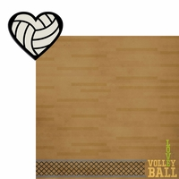 Volleyball: Heart Volleyball 2 Piece Laser Die Cut Kit