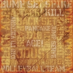 Volleyball: Victory Collage 12 x 12 Paper
