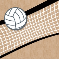 Volleyball: Volleyball 12 x 12 Paper