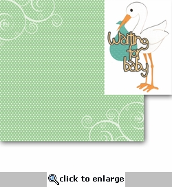 Waiting for Baby 2 Piece Laser Die Cut Kit
