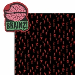 Walking Dead: Zombies Love Brains 2 Piece Laser Die Cut Kit
