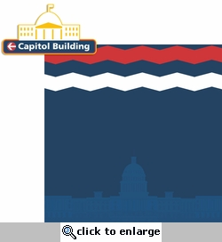 Washington D.C: Capitol Building 2 Piece Laser Die Cut Kit
