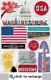 Washington DC Cardstock Stickers