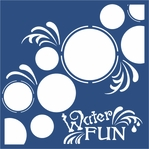 Water Fun 12 x 12 Overlay Laser Die Cut