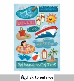 Water Fun: A Splashing Good Time Cardstock Stickers