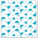 Water Fun: Dolphin Play 12 x 12 Double-Sided Glitter Paper