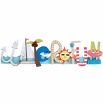 Water Fun Stacked Statement 3-D Title Sticker