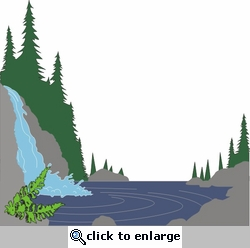 Waterfall and River Die Cut
