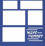 Wave Runner 12 x 12 Overlay Laser Die Cut