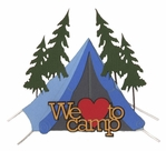 We Love to Camp Laser Die Cut