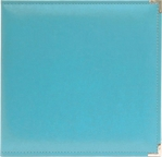 We R Aqua Faux Leather 3-Ring Binder