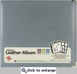 We R Charcoal Grey Faux Leather 3-Ring Binder