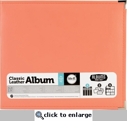 We R Coral Faux Leather 3-Ring Binder