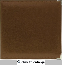 We R Dark Chocolate Faux Leather 3-Ring Binder
