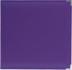 We R Grape Soda Faux Leather 3-Ring Binder