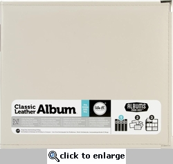 We R Greige Faux Leather 3-Ring Binder