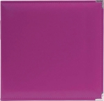 We R Plum Faux Leather 3-Ring Binder