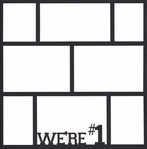 We're #1 12 x12 Photo Overlay Laser Die Cut
