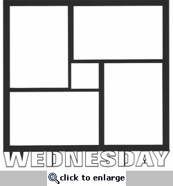 Wednesday 12 x 12 Overlay Laser Die Cut