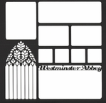 Westminster Abbey Window 12 x 12 Overlay Laser Die Cut