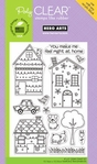 Whimsical Houses Poly Clear Stamps