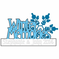 White Winter: Custom Winter Memories Laser Die Cut