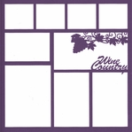 Wine Country 12 x 12 Overlay Laser Die Cut