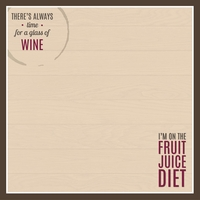 Wine & Friends: Fruit Juice Diet 12 x 12 Paper