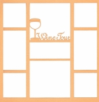 Wine Tour 12 x 12 Overlay Laser Die Cut