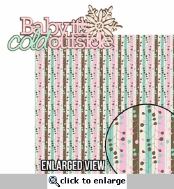 Winter Chill: Baby It's Cold Outside 2 Piece Laser Die Cut Kit